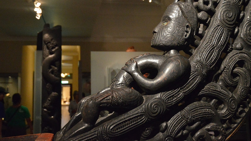 A detail of some Maori art.