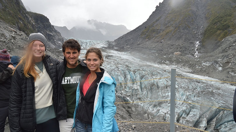 FSP students at Fox Glacier in New Zealand.