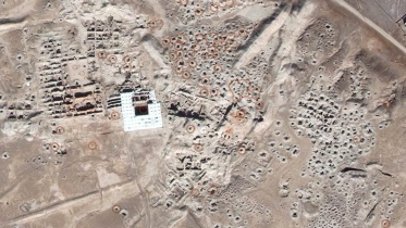 Satellite imagery of looting in Syria