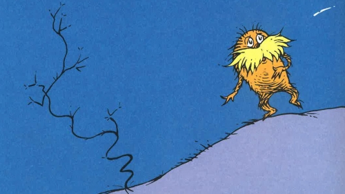 cropped image of a dr. seuss character called the lorax