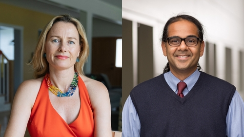 Associate Professor Sienna Craig and Assistant Professor Manish Mishra teach a course on rites of passage.