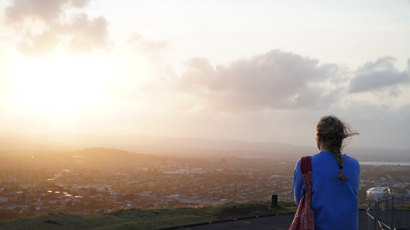 1.	Sophia Koval on top of Maungawhau (Mount Eden) as the sun began to set on Auckland.