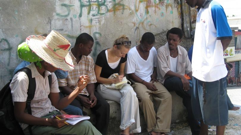 Chelsey Kivland conducting ethnography