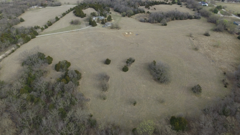 drone shot of ancestral site